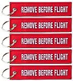 Llavero con «remove before flight»–5unidades