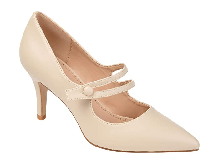 1950s Style Clothing & Fashion Journee Collection Sidney Pump Ivory Womens Shoes $54.99 AT vintagedancer.com