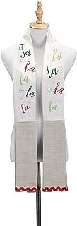Fa La La Winter White 68 inch Cotton Fabric Christmas Kitchen Dish Towel Boa