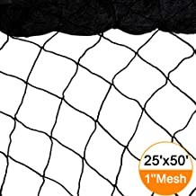 Bird Netting 25' X 50' Heavy Duty Nylon Netting for Bird, Poultry,Deer and Other Pests 1