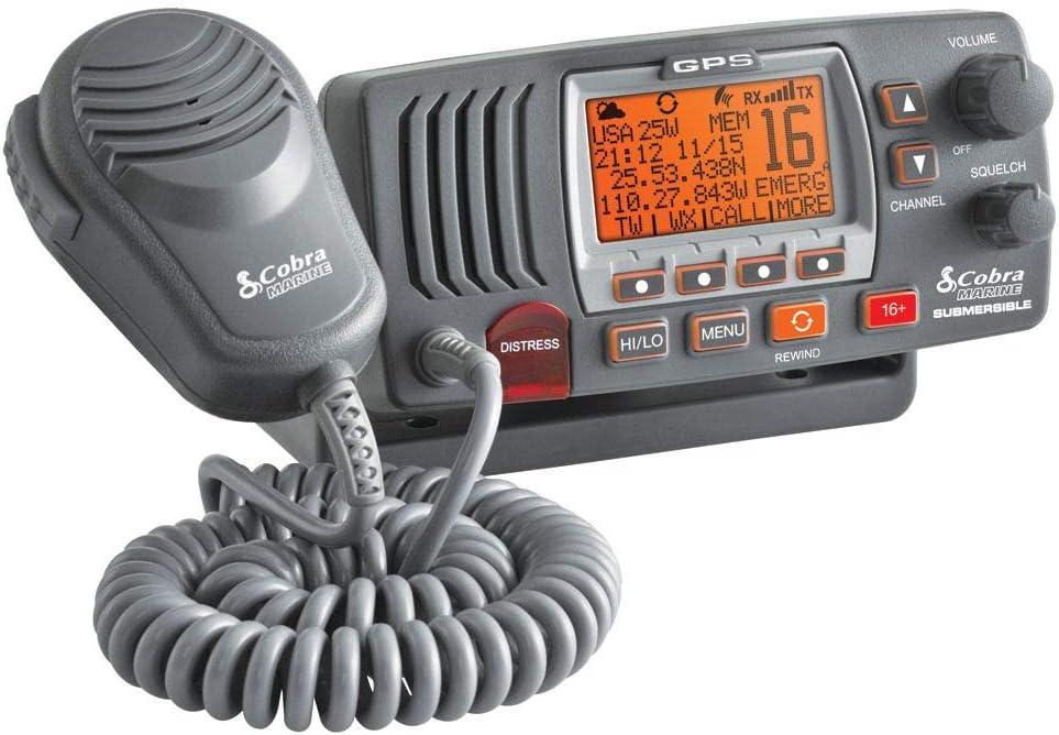 Cobra MR Under blast sales F77B shipfree GPS Fixed Mount VHF – Radio VH Marine 25 Watt