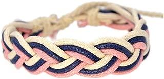 Natural Cotton Linen Colorful Bracelets Handmade Jewelry