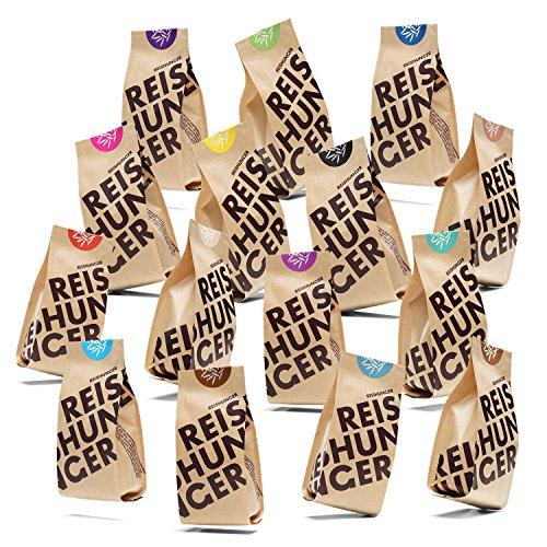 Reishunger Monster Set (15 x 200 g) - 15 verschiedene Reis- und Getreidesorten in einem Set
