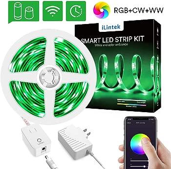 iLintek RGBWW Color Changing Waterproof Smart LED Strip Lights