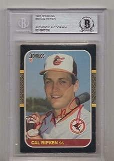 1987 Donruss Cal Ripken Jr. Signed Card Beckett Authentic Autograph - Beckett Authentication - Baseball Slabbed Autographed Cards