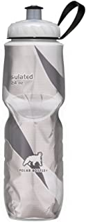 Polar Bottle Insulated Water Bottle 24 oz - 100% BPA-Free Cycling and Sports Water Bottle - Dishwasher & Freezer Safe (Black Graphic, 24 ounce)