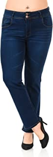 Pasion Women's Jeans · Plus Size · High Waist · Push Up · Style N645