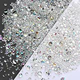 12000 Pieces Acrylic Crystal Rhinestones Table Scatter Crystals Acrylic Gem Wedding Table Scatter Confetti Crystals Gems Vase Fillers for Wedding Bridal Shower Party Decorations (AB Rainbow Color)
