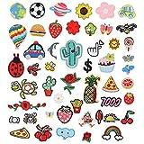 metagio 50 parches para planchar para niños, DIY, ropa, pegatinas, bordados, tamaños surtidos, decoración...
