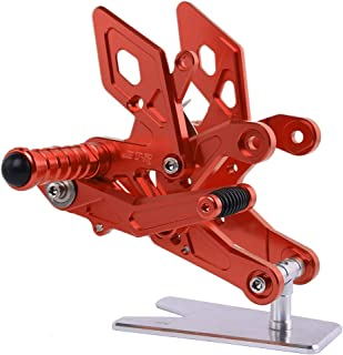 XX eCommerce Motorcycle Motorbike Adjustable Rearsets Foot Peg Rear Steps Footrest Footpeg For 2015-2016 Honda CB500F CBR500R (Red)