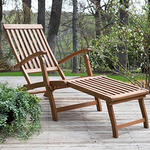 Best Coral Coast Dorado Acacia Steamer Deck Lounge Chair
