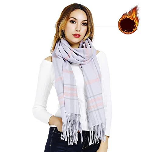 d717e2ad0a744 Winter Scarves for Women Men, Soft Thick Warm Wrap/Shawl, Long Large 80x27