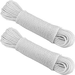 comprar comparacion EUROXANTY® Cuerda para Tender Ropa | Resistente y Duradera Azoteas y Campings | Cuerda De Acampada Blanca 20 m x2