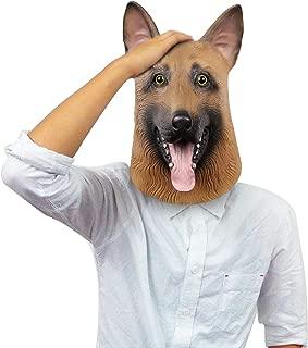 Eagles Underdog Mask, Halloween Dog Head mask, German Shepherd, Latex