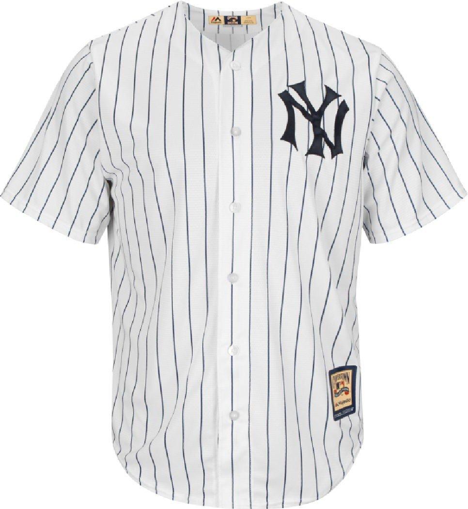 Majestic New York Yankees Pinstripe 1915 Cooperstown Cool Base Jersey de béisbol: Amazon.es: Libros