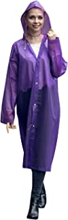 PQZATX Fashion Eva Raincoat Waterproof Raincoat Transparent Camping Waterproof Raincoat Purple