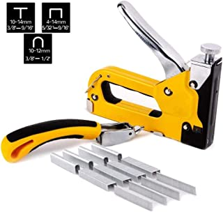 WX 3 in 1 Manual Nail Gun, Powerful Nail Gun with Heavy Duty Staple Remover and 900 Staples, Used for Fixing Materials to Decorate Woodworking Furniture