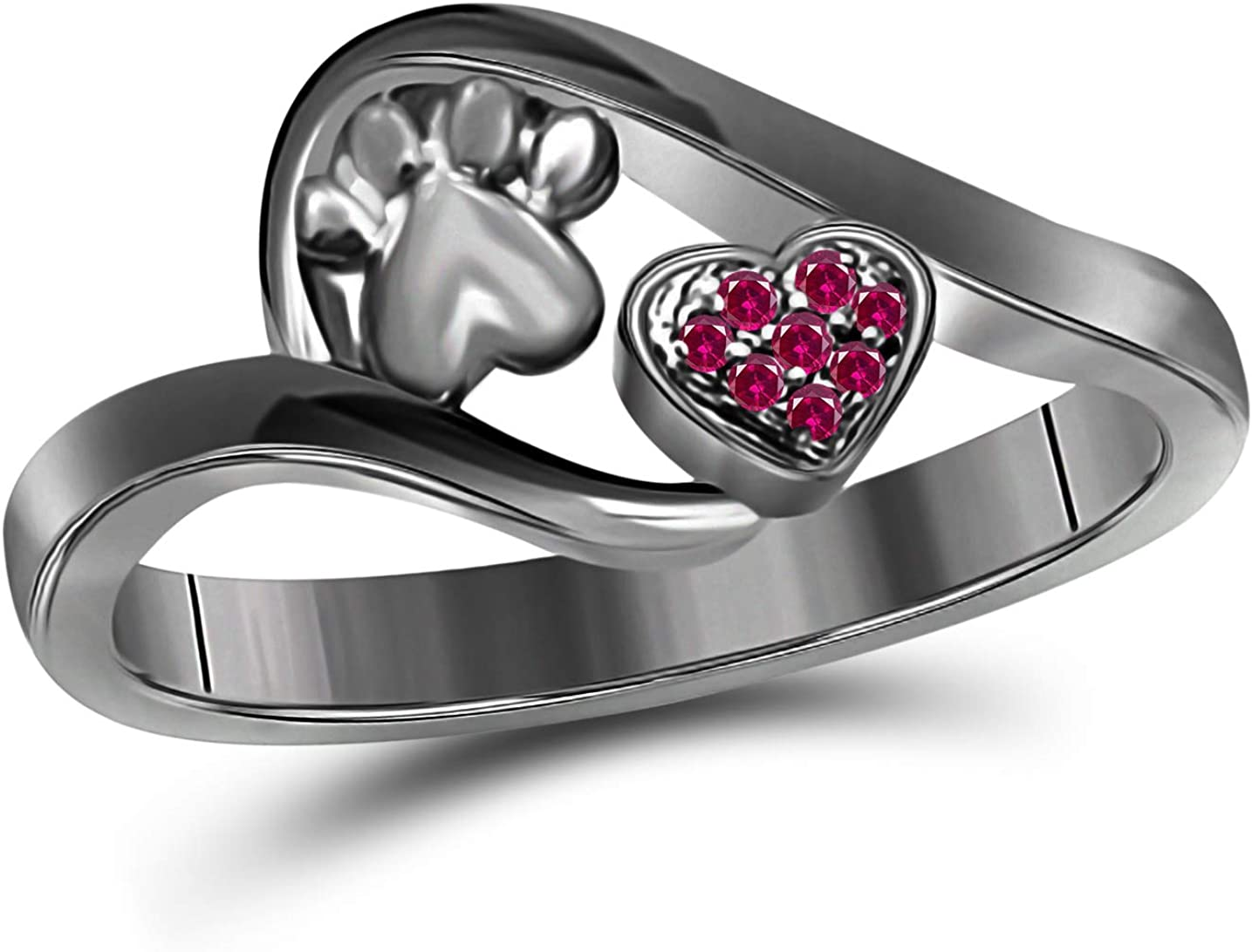Gems and Jewels Valentine Gift Round Black Cheap mail order specialty store Ruby Red Cut store 14k Gold
