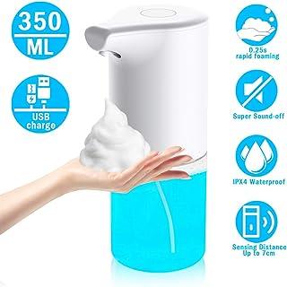 bhdlovely Dispensador de jabón automático eléctrico, 350 ml dispensador de jabón automático con Sensor infrarrojo, Impermeable IPX4, Recargable dispensador de jabón sin Contacto para baño y Cocina