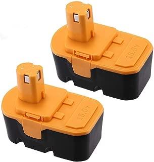 Powerextra 3600mAh Ryobi 18V Replacement Battery Compatible with Ryobi ONE+ Ryobi P100 Ryobi P101 Cordless Power Tools Ryobi 18V Battery(2 Pack)