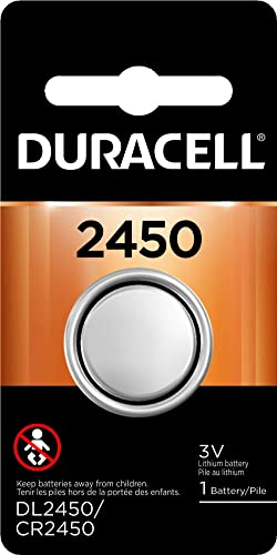 Duracell - 2450 3V Lithium Coin Battery - Long Lasting Battery - 1 Count