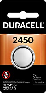 Duracell – 2450 3V Lithium Coin Battery, long lasting battery, 1 Count