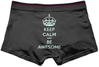 Keep Calm And Be Awesome Print Printed Briefs For Men