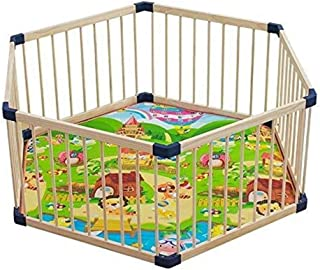 Xuping Toddler Playpen Playyard Wooden Children s Play Pens Indoor  Baby Fence Playground Hexagon Bed Rails Child Protection