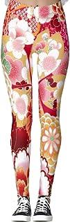 DIYCCY - Pantalones de yoga para mujer, diseño floral, color rojo