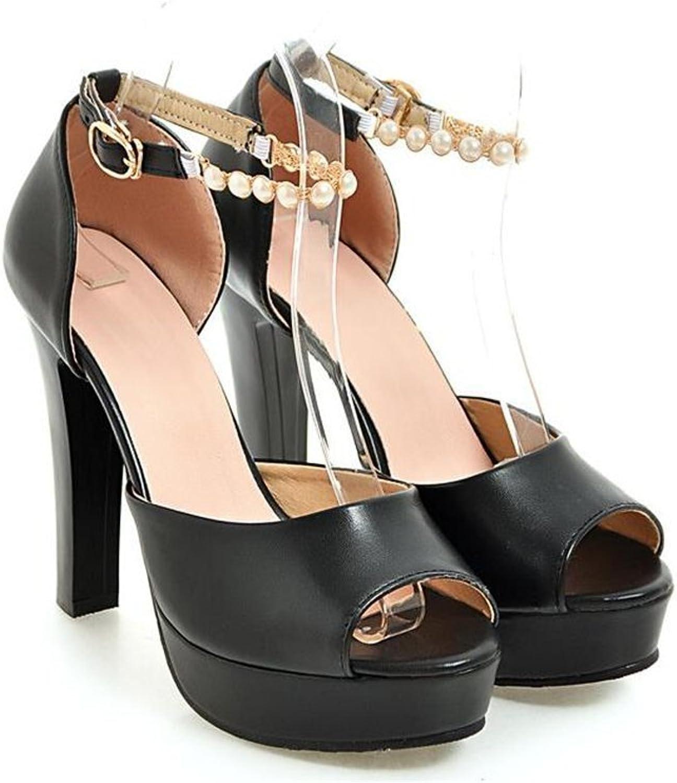 SUNNY Store Women's Peep-Toe High Heel Dress Sandals