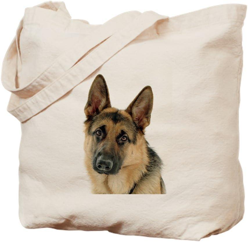 CafePress German Shepherd Tote Bag Natural Canvas Tote Bag, Reusable Shopping Bag