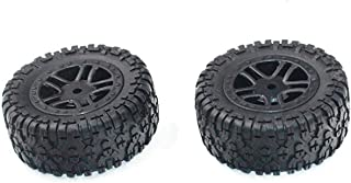 HONG YI-HAT 2PCS Rubber Tires PX9300-22 for Pxtoys PX9301 PX 9301 1/18 RC Car Spare Parts スペアパーツ (Color : Black)