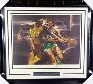 Wilt Chamberlain & John Havlicek Autographed Framed 1976 Sports Illustrated Living Legends Lithograph #A71554 - PSA/DNA Certified