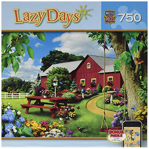 MasterPieces Lazy Days Jigsaw Puzzle, Picnic Paradise, Featuring Art by Alan Giana, 750 Pieces