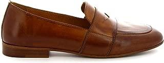 LEONARDO SHOES Luxury Fashion Womens K104BROWN Brown Loafers | Season Permanent