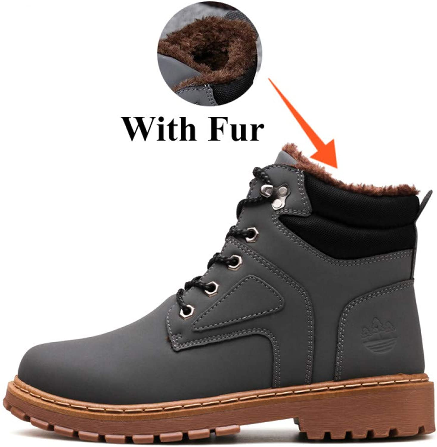 FHCGMX Winter With Warm Snow Boots For Men Sneakers shoes Adult Rubber Non Slip Casual Work Ankle Boots