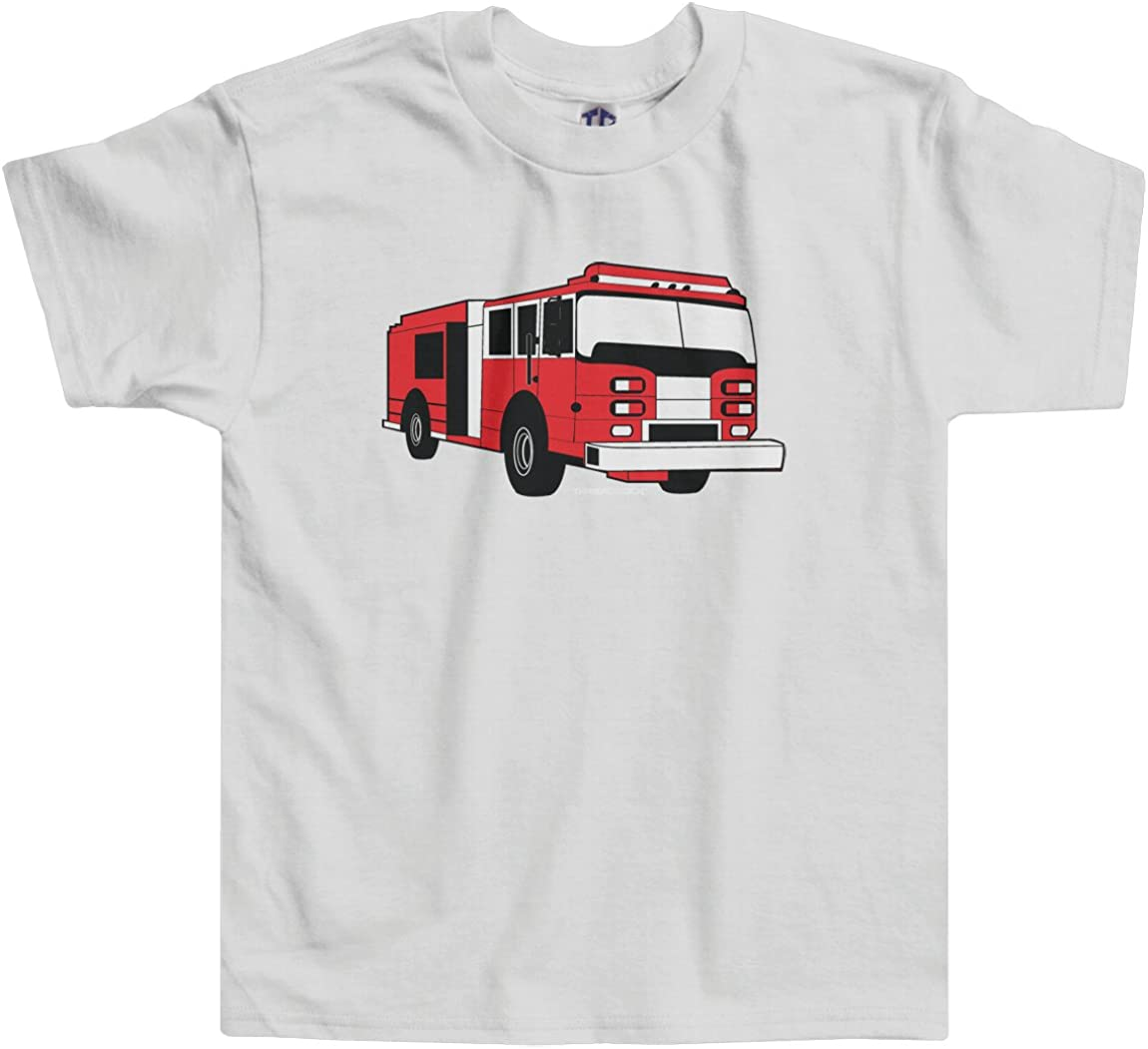 18Months-6Years Fire engine boys blue t shirt