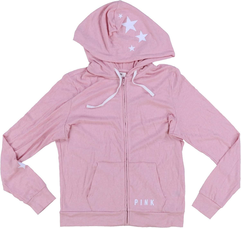Victoria's Secret Pink Hoodie Lightweight Full Zip Sweater Knit Sweatshirt