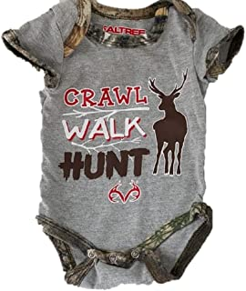 LH4279 Realtree Infant 6//9 Months Bodysuit Hunting Themed 2-Pack Camo Boys Cute