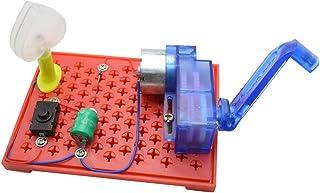B Blesiya DIY Ensamblado Mano Generador Bulbo Eléctrico de Plástico Juguete Educativo de Experimentos Físicos Regalo para Niños