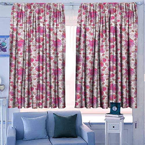 Print patroon Gordijnen voor kamer donkere panelen voor woonkamer slaapkamer bloemige botanische patroon takken Scenic weide ecologie bos bloesem gebladerte oranje zwart wit