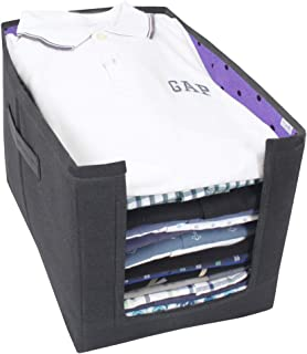 PrettyKrafts Shirt Stacker Closet Organizer - Shirts and Clothing Organizer - Exile (Single) - Purple