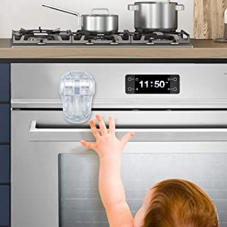 EUDEMON Child Safety Heat-Resistant Oven Door Lock, Oven Front Lock for Kids Easy to Install, Use 3M Adhesive, No Screws o...