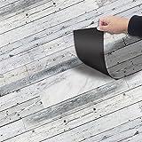 Vandecor - Adhesivo decorativo para suelos con textura de madera, rollo de 118 x 20 cm, Patten de grano de madera 09, 1 Roll