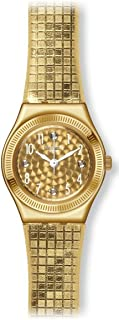 Swatch Women's YSG135 Dance Floor Year-Round Analog Quartz Gold Watch