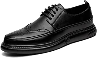 Men's Business Oxford Superficial Classic Hearty Coloured Pointed Toe Breathable Brogue Shoes casual shoes (Color : Black, Size : 45 EU)
