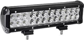 YITAMOTOR Led Light Bar ,12 inches 72W LED Light Bar Spot Flood Combo Led Driving Light Waterproof for Jeep off road Van Camper Wagon ATV AWD SUV 4WD 4x4 Pickup Van Off-road
