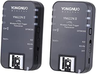 Yongnuo YN-622N II Wireless TTL disparador de flash con HSS para Nikon D7200 D7300 D7000 Cámaras D7100 con WINGONEER Difusor