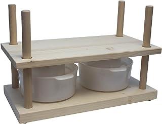 WoodBi Queso Prensa de madera Portia | Prensa universal para queso Queso | Original,