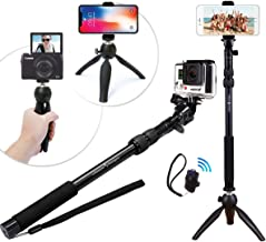 Premium HD Rugged 4-in-1 Selfie Stick Tripod Stand Kit + Bluetooth Remote – Universal: Any iPhone, Android, GoPro or Camera – iPhone Xs Max XS XR X 8 7 6 Plus, Samsung S9 etc. | Best Gift Pack